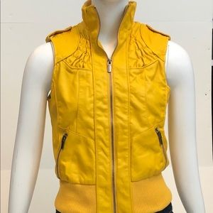 Mustard Yellow Leather Vest